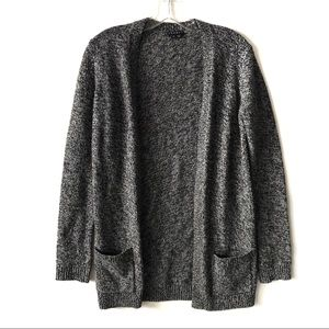 Theory Marled Open Wool Sweater Cardigan Size S